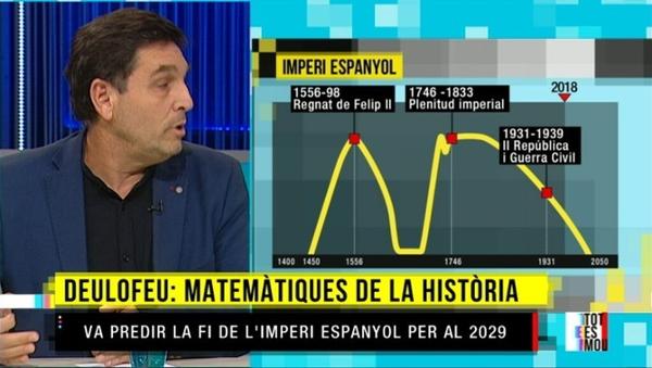 13-06-2019. Tot es mou. TV3. Les matemàtiques de la història: hi ha fórmules per predir el futur? Entrevista a Juli Gutièrrez Deulofeu.