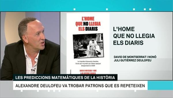 17-6-2019. Els matins de TV3. Alexandre Deulofeu, l'home que no llegia els diaris (Alexandre Deulofeu, el hombre que no leía los diarios). Entrevista a David de Montserrat.