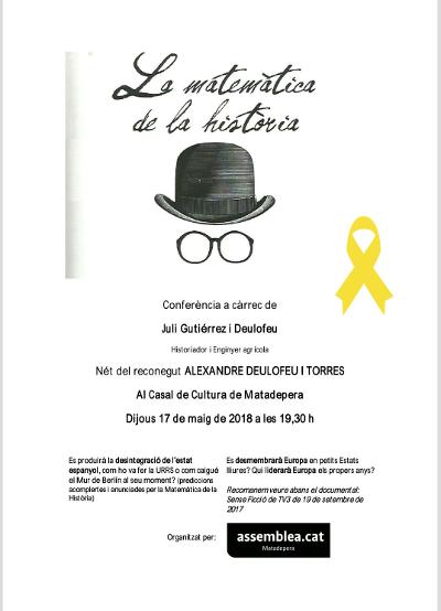 2018-05-17. Presentació del llibre de Juli Gutièrrez Deulofeu a Matadepera. 400x554px.