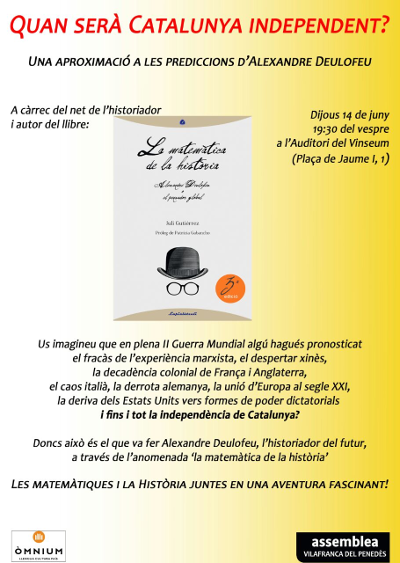 14-6-2018. Acto sobre la Matemática de la Historia en Vilafranca del Penedès. 400x563px.