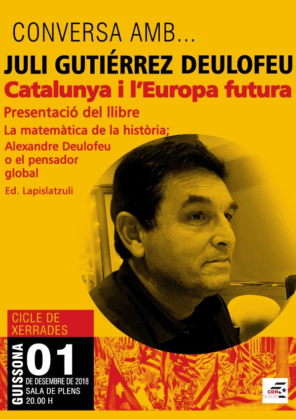 2018-12-01. Conversa amb Juli Gutièrrez Deulofeu. Presentació llibre sobre la Matemàtica de la Història a Guissona.