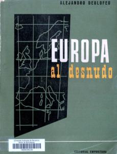 Alexandre Deulofeu. Europa al desnudo. Editorial Emporitana.