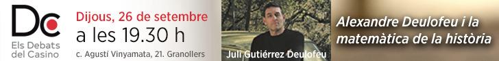 Banner Juli Gutièrrez Deulofeu. Casino de Granollers.