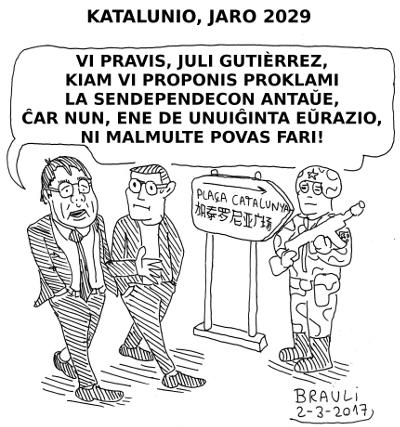 Catalunya_jaro_2029_Carles_Puigdemont_kaj_Juli_Gutierrez_Deulofeu_esperanto_400x427px
