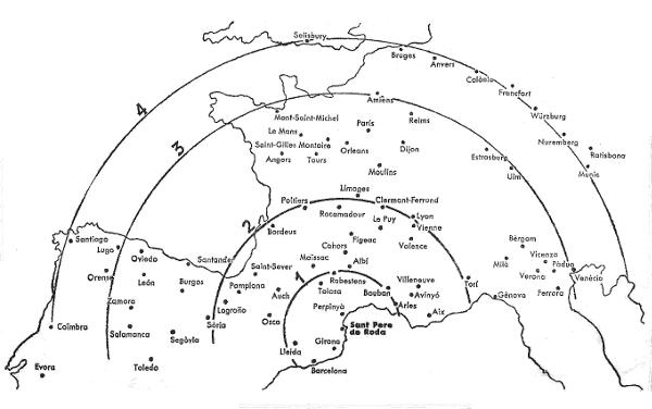 Como si de un terremoto con epicentro en Sant Pere de Rodes se tratara, las réplicas arquitectónicas del románico se extienden por toda Europa occidental. (Imagen del archivo de Alexandre Deulofeu).