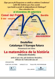 Conferencia de Juli Gutièrrez Deulofreu en Bordils. 29-9-2017. Cartel.