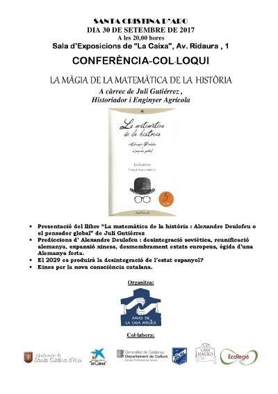 Conferència-col·loqui a Santa Cristina d'Aro, 30-9-2017.