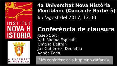 Quarta Universitat de la Nova Història. Taula rodona «Recuperar el passat per guanyar el futur», amb Juli Gutièrrez Deulofeu. Fotograma inicial.