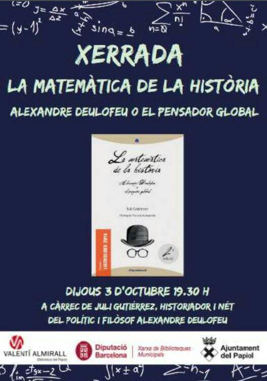 Presentació de Juli Gutièrrez Deulofeu a El Papiol.