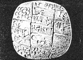 Third millennium b.C. tablet from a place in Syria.